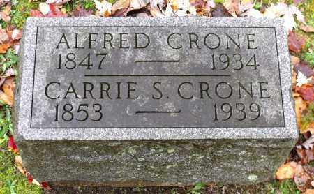 CRONE, CARRIE S. - Crawford County, Pennsylvania | CARRIE S. CRONE - Pennsylvania Gravestone Photos