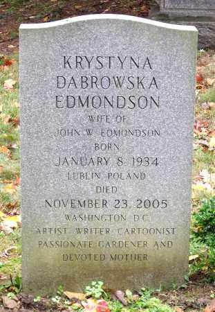 DABROWSKA EDMONDSON, KRYSTYNA - Crawford County, Pennsylvania | KRYSTYNA DABROWSKA EDMONDSON - Pennsylvania Gravestone Photos