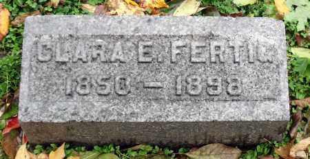 FERTIG, CLARA E. - Crawford County, Pennsylvania | CLARA E. FERTIG - Pennsylvania Gravestone Photos