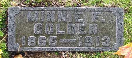 GOLDEN, MINNIE F. - Crawford County, Pennsylvania   MINNIE F. GOLDEN - Pennsylvania Gravestone Photos
