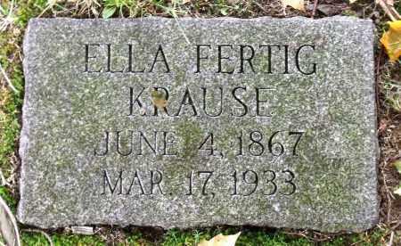 KRAUE, ELLA - Crawford County, Pennsylvania   ELLA KRAUE - Pennsylvania Gravestone Photos