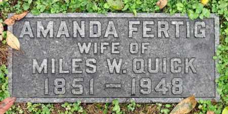 QUICK, AMANDA - Crawford County, Pennsylvania | AMANDA QUICK - Pennsylvania Gravestone Photos