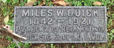 QUICK, MILES W. - Crawford County, Pennsylvania | MILES W. QUICK - Pennsylvania Gravestone Photos