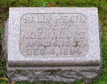 HEATH ROUSE, SALLY - Crawford County, Pennsylvania | SALLY HEATH ROUSE - Pennsylvania Gravestone Photos
