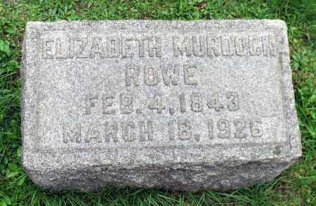 ROWE, ELIZABETH - Crawford County, Pennsylvania | ELIZABETH ROWE - Pennsylvania Gravestone Photos