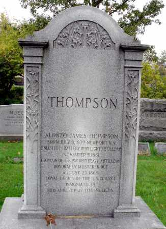 THOMPSON (CW), ALONZO JAMES - Crawford County, Pennsylvania | ALONZO JAMES THOMPSON (CW) - Pennsylvania Gravestone Photos