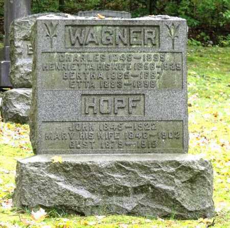 WAGNER, CHARLES - Crawford County, Pennsylvania | CHARLES WAGNER - Pennsylvania Gravestone Photos