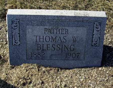 BLESSING, THOMAS W - Cumberland County, Pennsylvania | THOMAS W BLESSING - Pennsylvania Gravestone Photos
