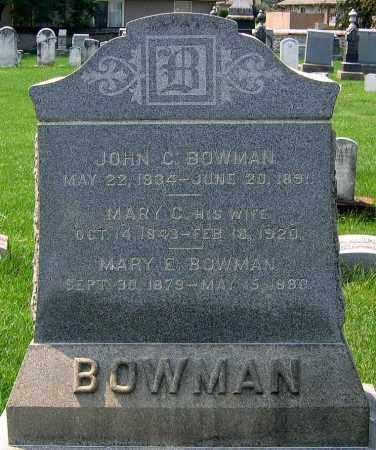 BOWMAN, JOHN C. - Cumberland County, Pennsylvania | JOHN C. BOWMAN - Pennsylvania Gravestone Photos
