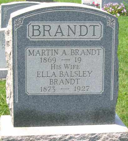BRANDT, ELLA BALSLEY - Cumberland County, Pennsylvania | ELLA BALSLEY BRANDT - Pennsylvania Gravestone Photos