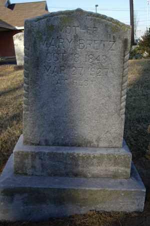BRETZ, MARY - Cumberland County, Pennsylvania | MARY BRETZ - Pennsylvania Gravestone Photos