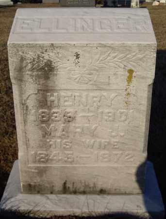 ELLINGER, HENRY - Cumberland County, Pennsylvania | HENRY ELLINGER - Pennsylvania Gravestone Photos