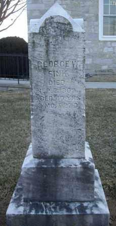 FINK, GEORGE W - Cumberland County, Pennsylvania | GEORGE W FINK - Pennsylvania Gravestone Photos