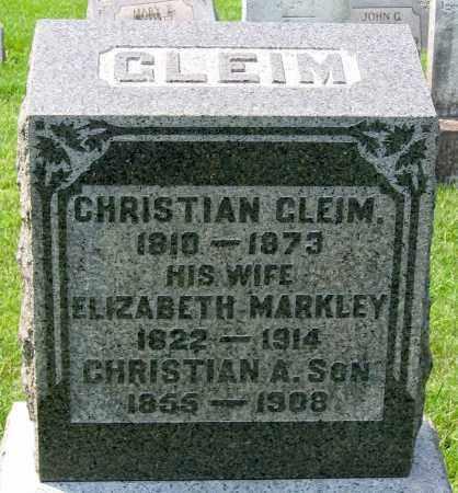 GLEIM, CHRISTIAN A. - Cumberland County, Pennsylvania | CHRISTIAN A. GLEIM - Pennsylvania Gravestone Photos
