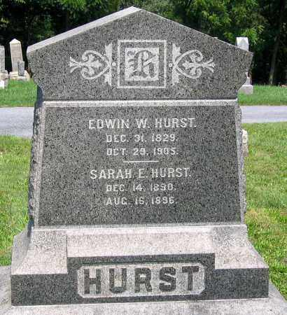 HURST, EDWIN W. - Cumberland County, Pennsylvania | EDWIN W. HURST - Pennsylvania Gravestone Photos