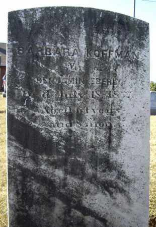 KOFFMAN, BARBARA - Cumberland County, Pennsylvania | BARBARA KOFFMAN - Pennsylvania Gravestone Photos