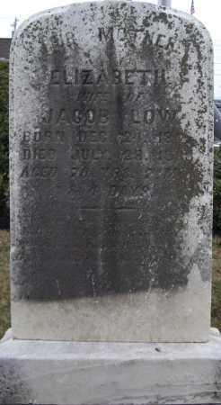 LOW, ELIZABETH - Cumberland County, Pennsylvania   ELIZABETH LOW - Pennsylvania Gravestone Photos