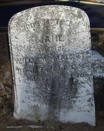 MATCHETT, JANE - Cumberland County, Pennsylvania | JANE MATCHETT - Pennsylvania Gravestone Photos