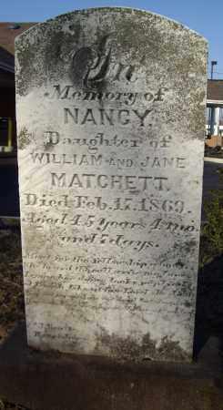 MATCHETT, NANCY - Cumberland County, Pennsylvania | NANCY MATCHETT - Pennsylvania Gravestone Photos