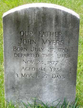 MYERS, JOHN - Cumberland County, Pennsylvania | JOHN MYERS - Pennsylvania Gravestone Photos