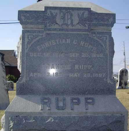 RUPP, FRANCES - Cumberland County, Pennsylvania | FRANCES RUPP - Pennsylvania Gravestone Photos