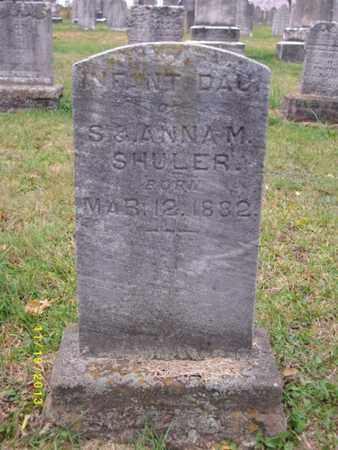 SHULER, INFANT DAUGHTER - Cumberland County, Pennsylvania | INFANT DAUGHTER SHULER - Pennsylvania Gravestone Photos