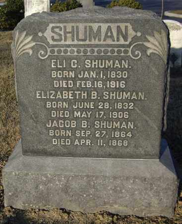 SHUMAN, JACOB B - Cumberland County, Pennsylvania | JACOB B SHUMAN - Pennsylvania Gravestone Photos