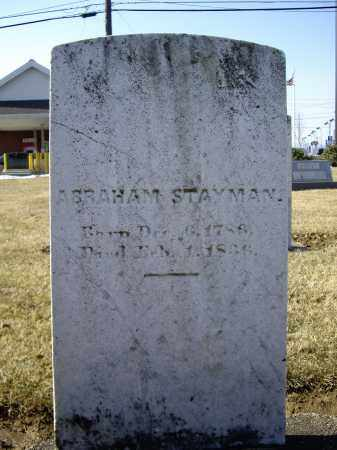STAYMAN, ABRAHAM - Cumberland County, Pennsylvania | ABRAHAM STAYMAN - Pennsylvania Gravestone Photos