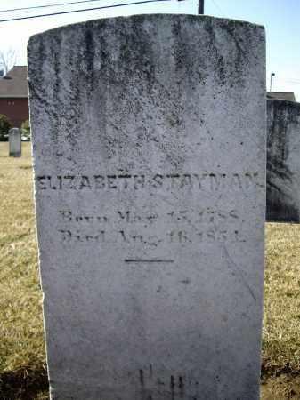 STAYMAN, ELIZBETH - Cumberland County, Pennsylvania | ELIZBETH STAYMAN - Pennsylvania Gravestone Photos
