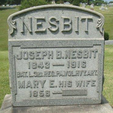 NESBIT (NESBITT) (CW), JOSEPH B. - Dauphin County, Pennsylvania | JOSEPH B. NESBIT (NESBITT) (CW) - Pennsylvania Gravestone Photos