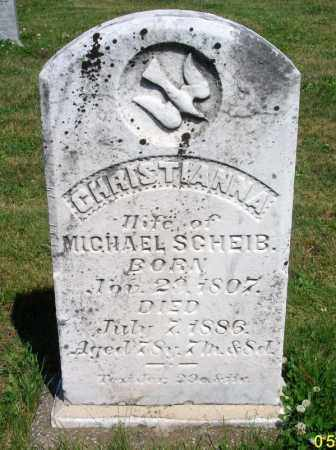 SCHEIB, CHRISTIANNA - Dauphin County, Pennsylvania   CHRISTIANNA SCHEIB - Pennsylvania Gravestone Photos