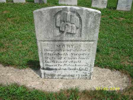 SCHOFFSTALL, MARY MAGDALENA - Dauphin County, Pennsylvania   MARY MAGDALENA SCHOFFSTALL - Pennsylvania Gravestone Photos