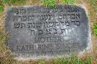 GARONZIK SINGER, KATHERINE (GITA) - Dauphin County, Pennsylvania | KATHERINE (GITA) GARONZIK SINGER - Pennsylvania Gravestone Photos