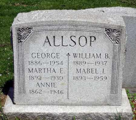 ALLSOP, ANNIE - Delaware County, Pennsylvania | ANNIE ALLSOP - Pennsylvania Gravestone Photos