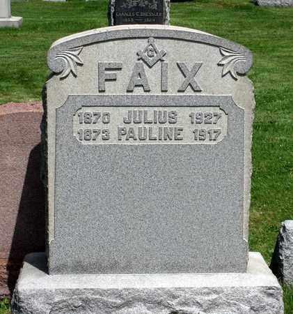 FAIX, JULIUS - Delaware County, Pennsylvania   JULIUS FAIX - Pennsylvania Gravestone Photos