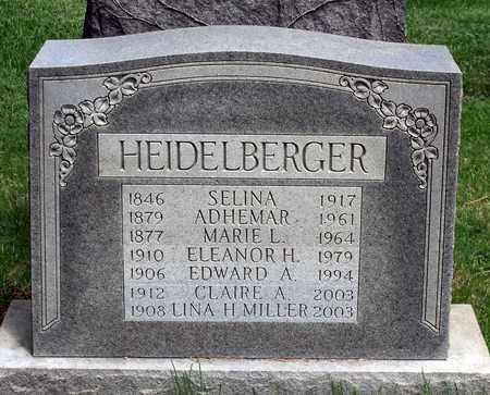 HEIDELBERGER MILLER, LINA - Delaware County, Pennsylvania | LINA HEIDELBERGER MILLER - Pennsylvania Gravestone Photos