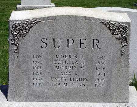 SUPER, MORRIS JOSEPH - Delaware County, Pennsylvania | MORRIS JOSEPH SUPER - Pennsylvania Gravestone Photos
