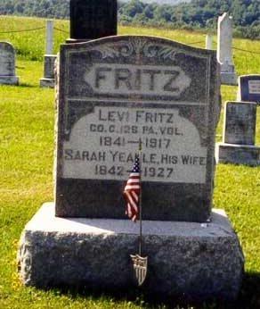 FRITZ (CW), LEVI - Franklin County, Pennsylvania | LEVI FRITZ (CW) - Pennsylvania Gravestone Photos