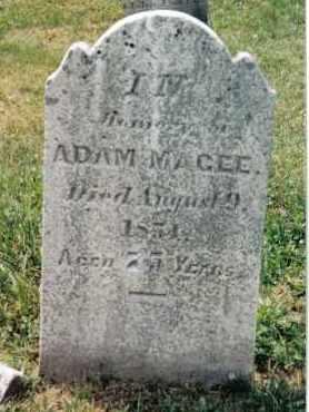 MAGEE, ADAM - Franklin County, Pennsylvania   ADAM MAGEE - Pennsylvania Gravestone Photos