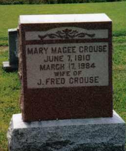 MAGEE CROUSE, MARY - Franklin County, Pennsylvania | MARY MAGEE CROUSE - Pennsylvania Gravestone Photos