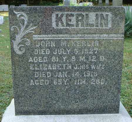 KERLIN, JOHN M. - Fulton County, Pennsylvania | JOHN M. KERLIN - Pennsylvania Gravestone Photos