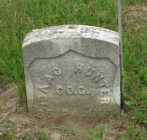 HUNTER (CW), ISAAC - Greene County, Pennsylvania | ISAAC HUNTER (CW) - Pennsylvania Gravestone Photos