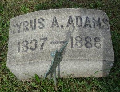 ADAMS (CW), CYRUS A. - Huntingdon County, Pennsylvania | CYRUS A. ADAMS (CW) - Pennsylvania Gravestone Photos