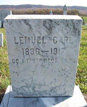 CARL (CW), LEMUEL - Huntingdon County, Pennsylvania | LEMUEL CARL (CW) - Pennsylvania Gravestone Photos