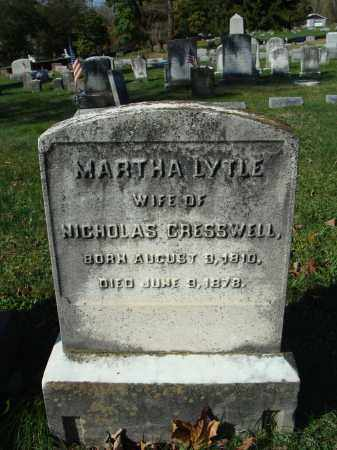 LYTLE CRESSWELL, MARTHA - Huntingdon County, Pennsylvania | MARTHA LYTLE CRESSWELL - Pennsylvania Gravestone Photos