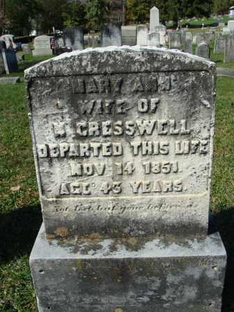 CRESSWELL, MARY ANN - Huntingdon County, Pennsylvania | MARY ANN CRESSWELL - Pennsylvania Gravestone Photos