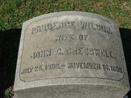CRESSWELL, PRUDENCE - Huntingdon County, Pennsylvania | PRUDENCE CRESSWELL - Pennsylvania Gravestone Photos