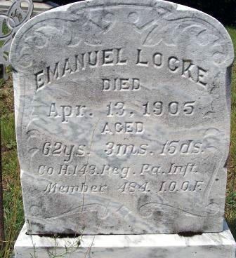 LOCKE, EMANUEL - Huntingdon County, Pennsylvania | EMANUEL LOCKE - Pennsylvania Gravestone Photos