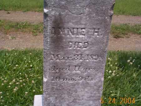 LONGABAUGH, ANNIE H. - Huntingdon County, Pennsylvania   ANNIE H. LONGABAUGH - Pennsylvania Gravestone Photos