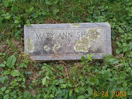 SHARP, MARY ANN - Huntingdon County, Pennsylvania | MARY ANN SHARP - Pennsylvania Gravestone Photos